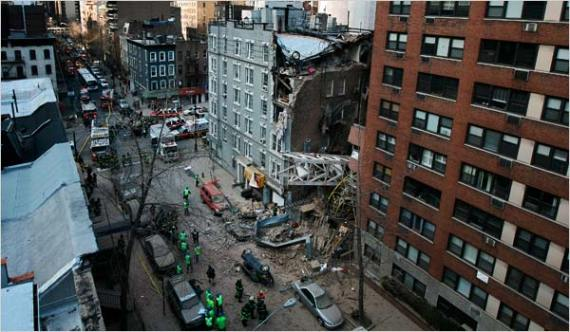 NYC East side, crane collapse