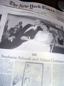 New York Times Wedding Section 13 April 2008